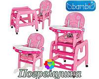 Детский стульчик для кормления Bambi-1563-8-2