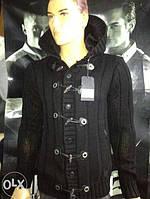Трендовый тёплый турецкий мужской свитер, мужская кофта на меху - вельбо