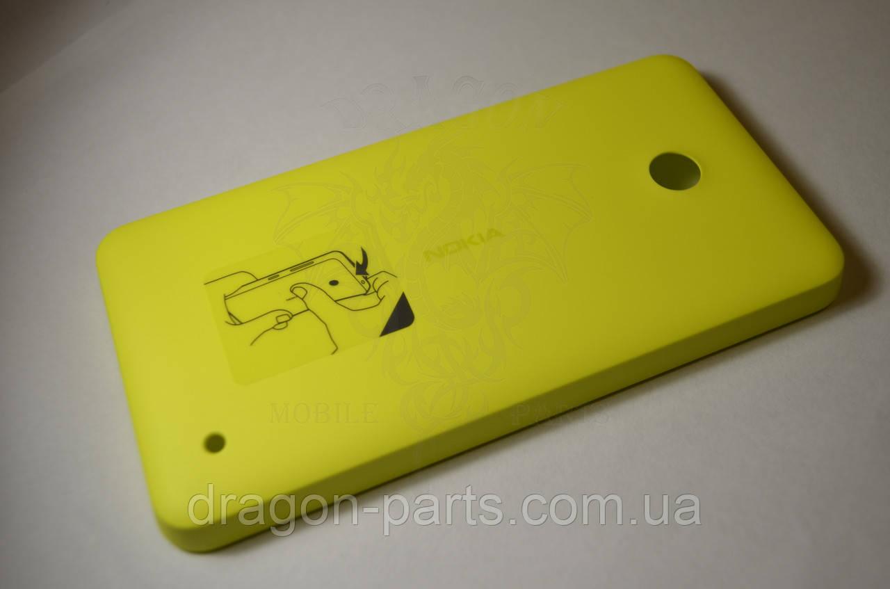 Задняя крышка  Nokia Lumia 630 желтая оригинал , 02506C3