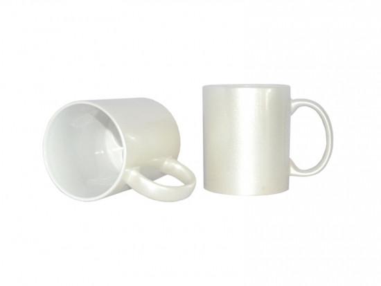 Чашка для сублимации перламутровая 330 мл (белая)
