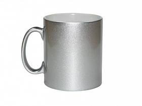 Чашка для сублимации перламутровая 330 мл (серебро)