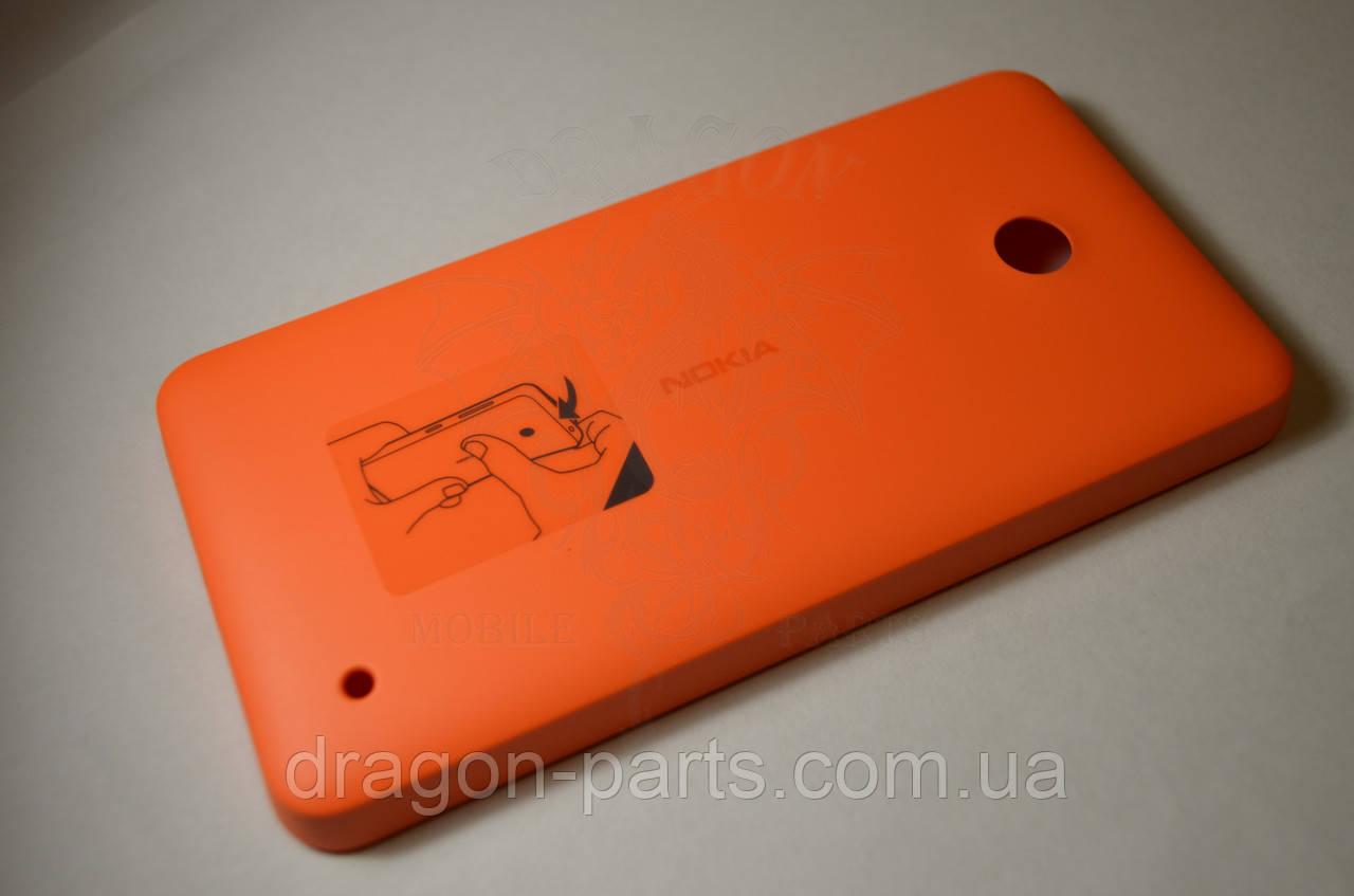 Задняя крышка  Nokia Lumia 630 оранжевая оригинал , 02506C4