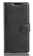 Кожаный чехол-книжка для Doogee X6 / X6 Pro черный