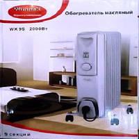 Обогреватель масляный Wimpex HEATER WX 9S, электрический обогреватель, масляный радиатор