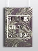 Твердый постер The best things Лучшие вещи А2 на подарок