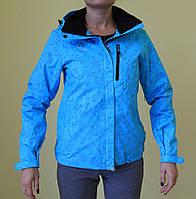 Женская демисезонная куртка Azimut 2072(707) голубая код 2014А