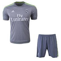 Детская футбольная форма Реал Мадрид (резервная, серая), фото 1