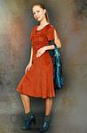 Платье замшевое рыжее сарафан по 021, фото 2
