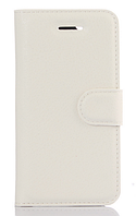 Кожаный чехол-книжка для Doogee X6 / X6 Pro белый