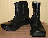Сапоги женские демисезонные кожаные черные полусапожки Clarks (размер 38,5-39)
