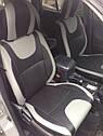 Авточехлы экокожа или экокожа+ткань для Hyundai Santa Fe 2007-12г., фото 4