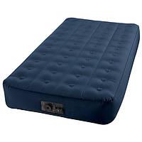 Односпальный надувной матрас 68724 синяя.,встр.насос,шнур для подзарядки(USB+12V),сумка, (102*191*23см)