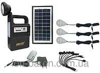 Портативный аккумулятор солнечная панель GDLight GD-8133 Fm радио МР3, система освещения