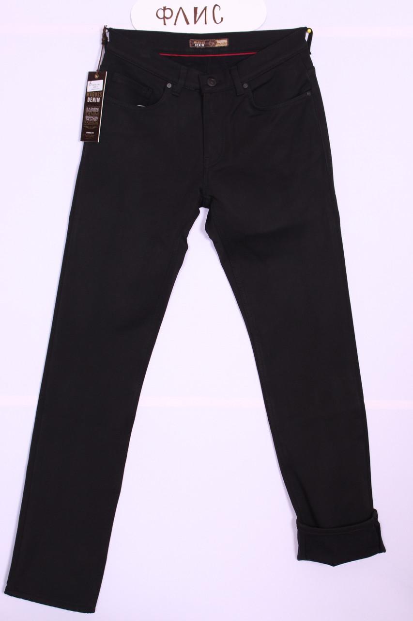 """Зимние мужские брюки, флис  черного цвета """"Waguss """" Турция ( размер только 33. )"""