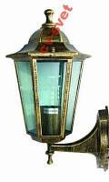 Фонарь садово-парковый PL6101 60w античное золото