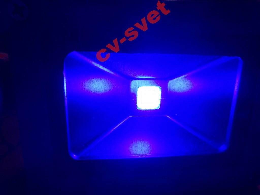Світлодіодний прожектор 10w ультрафіолетовий 410 nm (УФ 10 вт, UF 10w, ультрафіолет 10 ват)