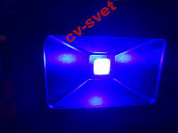 Светодиодный прожектор 10w ультрафиолетовый 410 nm (УФ 10 вт, UF 10w, ультрафиолет 10 ватт)