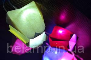 Как сделать гирлянду из бумаги в виде тюльпанов?