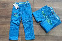 Утепленные катоновые брюки на флисе. 1- 3 года