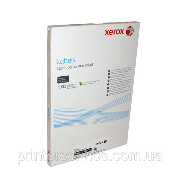 Наклейка Xerox Mono Laser 1UP (rounded) 199.6x289.1mm 100л. (003R91225)
