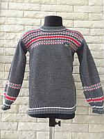Вязаный свитер на мальчика 4-5 лет