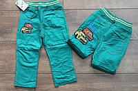 Утепленные катоновые брюки на флисе для мальчиков 1 год