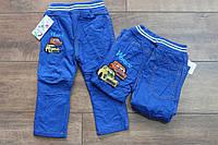 Утепленные катоновые брюки на флисе для мальчиков 1- 5 лет