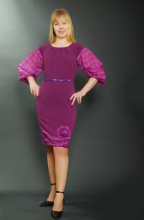 Платье женское фиолетовое , Пл 029