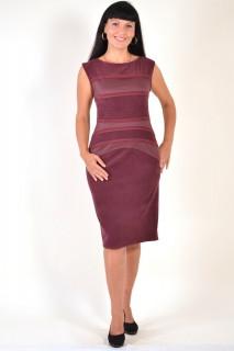 Платье женское, ботал, по колено , ПЛ 033-2, тянется , хлопок, вельвет , 46,48,54,56, для полных.