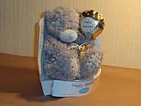 Мишка Teddy 14 см. с шариком.
