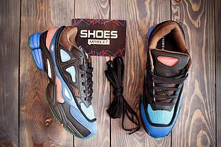 """Женские кроссовки Raf Simons x Adidas Consortium Ozweego 2 """"Black/Brown/Blue"""", адидас консортиум, фото 3"""