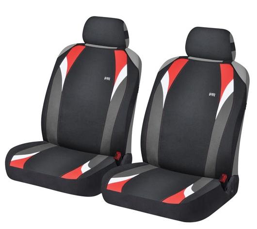 Маечки на передние сиденья FORMULA цвет: черный-красный