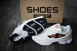 """Женские кроссовки Raf Simons x Adidas Consortium Ozweego 2 """"White/Bold Orange"""", адидас консортиум, фото 3"""