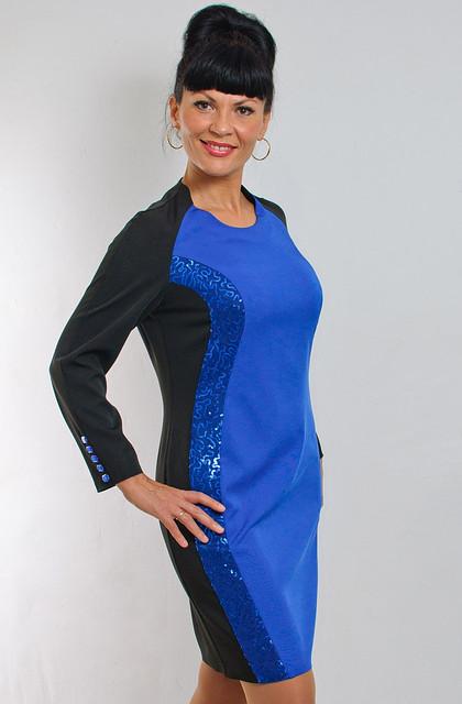 Платье женское вечернее электрик ПЛ 051