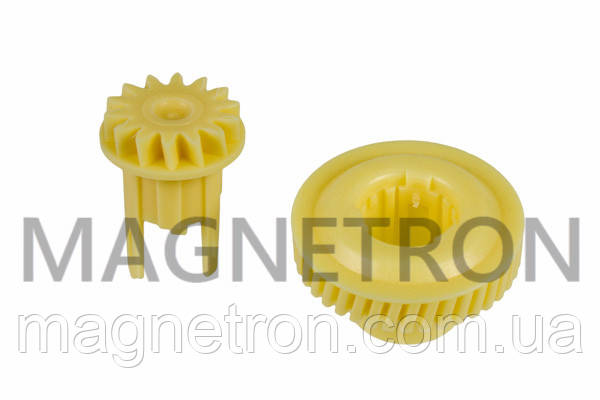 Набор шестерней (2 шт) редуктора мотора для ломтерезок Bosch 151728, фото 2