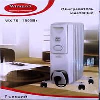Обогреватель масляный Wimpex HEATER WX 7S, электрический обогреватель, масляный радиатор