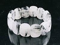 Браслет из кварца-волосатика