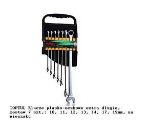 Набор ключей комбинированных супердлин. 7 шт. 10-19мм  TOPTUL GAAM0706, фото 2