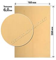 Полиуретан листовой Черкассы р. 260*180*6 мм, цв. бежевый