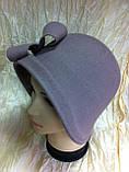 Фетровий капелюшок із складками і бантом, фото 5