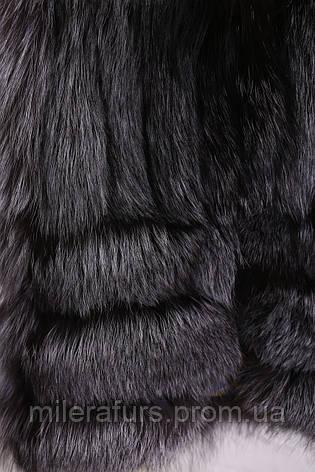 Детская жилетка из натурального меха чернобурки, фото 2