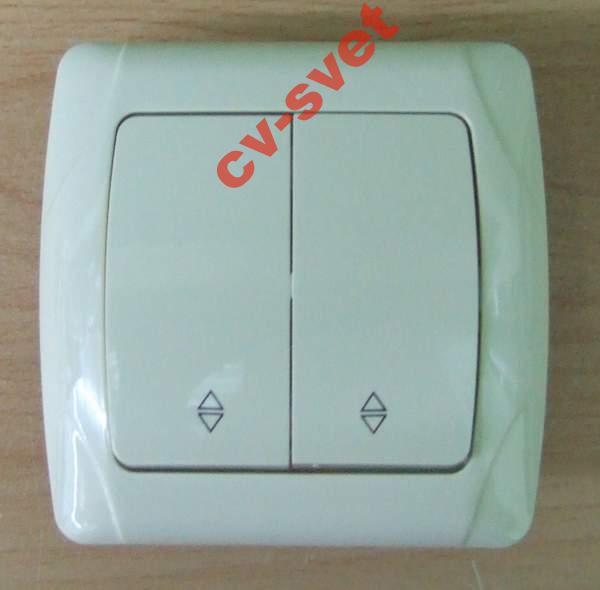 двухклавишный проходной выключатель купить