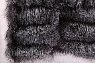 Детская жилетка из натурального меха чернобурки, фото 3