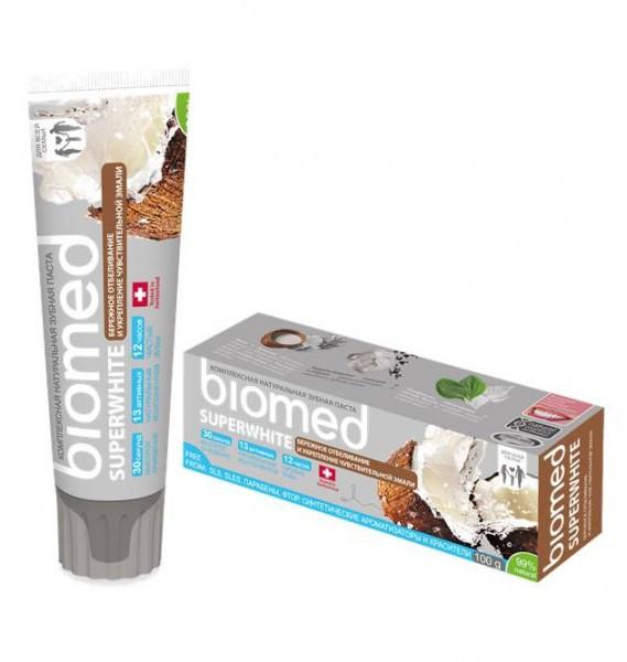 Биомед Супервайт зубная паста (отбеливание) 100г