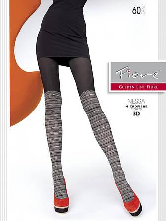 Колготы Fiore Nessa 60 Den 3D Black-Linen размер 4
