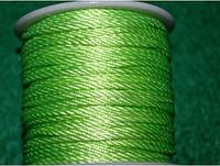 Капроновый шнур 3 мм  салатовый 20151