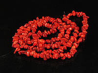 Крошка из красного коралла. 90см