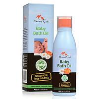Миндальное масло для купания младенцев с ромашкой, органич. календулой и лавандой (400 мл)