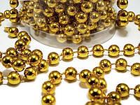 Гирлянда золотистых бусинок 6 мм