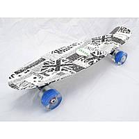 """Скейт Пенни борд Penny board Explore оригинал 22"""" British светящиеся колеса"""